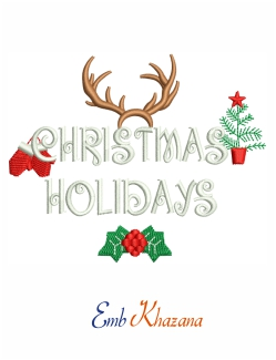 Christmas Holiday Embroidery Design
