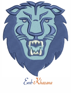 columbia lions logo embroidery design