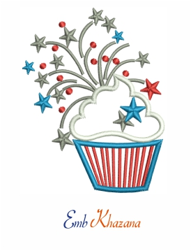 Cup Cake With Star Design