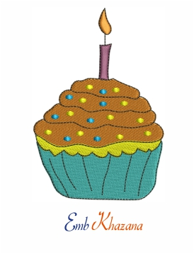 Cupcake With Candle Design
