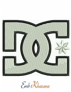 Dc Shoes Logo Embroidery Design