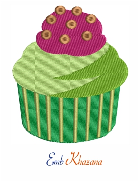 Delicious Cupcake Embroidery Design