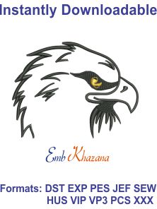 eagle head free embroidery design