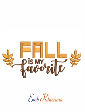 Fall is my favorite embroidery design for machine