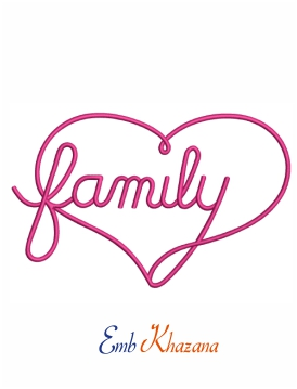 Family infinity machine embroidery design