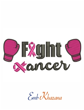 Fight breast cancer awareness  machine embroidery design