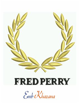 fred perry logo Embroidery design