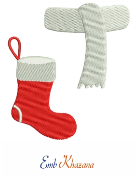 socks and scarf embroidery designs free