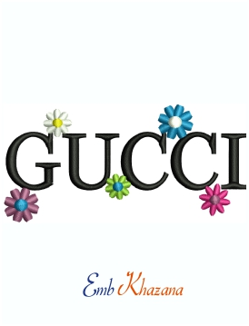 Gucci Flower Logo Embroidery Design
