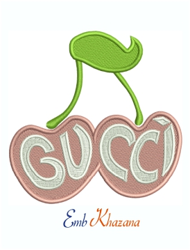 Gucci Cherry machine embroidery design