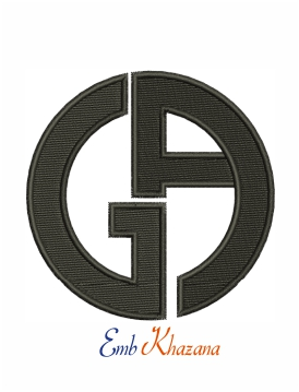 Giorgio Armani logo machine embroidery design