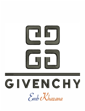Givenchy Chanel logo machine embroidery design