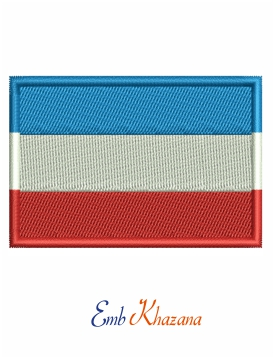 Holland flag embroidery design
