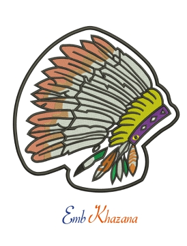 Indian Headdress Embroidery Design