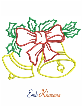 Jingle bell Embroidery Pattern
