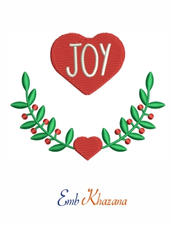 Joy Letters Love Embroidery Design