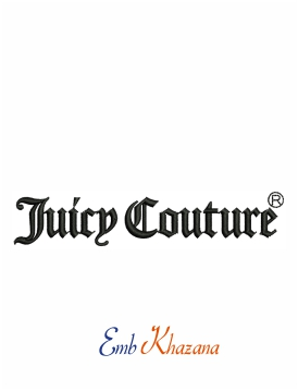 juicy couture logo machine embroidery design
