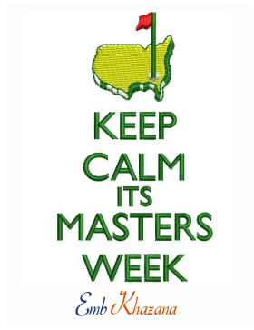 keep calm its masters week logo