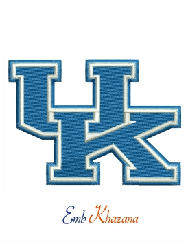 kentucky wildcats logo embroidery design