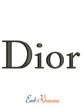 Logo Of Dior Embroidery Design
