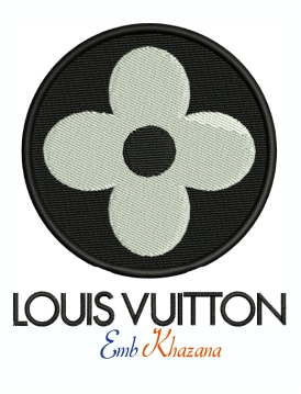 Louis Vuitton flower logo and symbol machine embroidery design