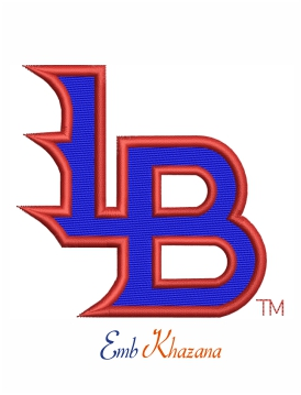 louisville bats logo embroidery design