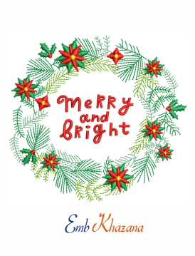 Merry Bright Embroidery Design
