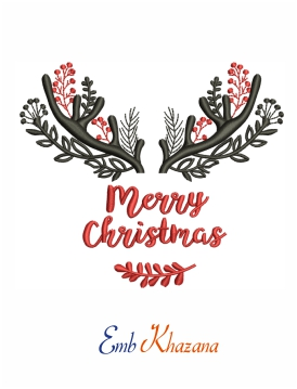 Antler Merry Christmas Design