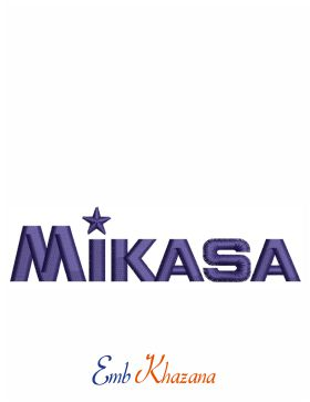 Mikasa Sports Logo Embroidery Design