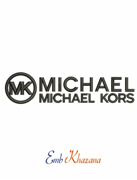 MICHAEL KORS logo and symbol machine embroidery design