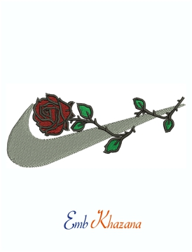 Nike Flower Logo Machine Embroidery Design