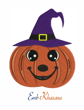 Pumpkin machine embroidery design