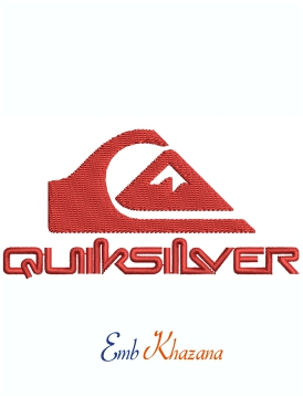 Quiksilver Logo Machine Embroidery Design