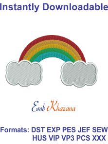 free rainbow embroidery design