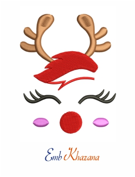 Cute Reindeer machine embroidery design