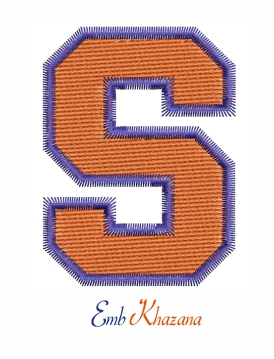 Syracuse Football Embroidery Logo