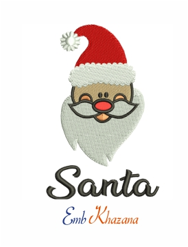 Santa Claus machine embroidery design