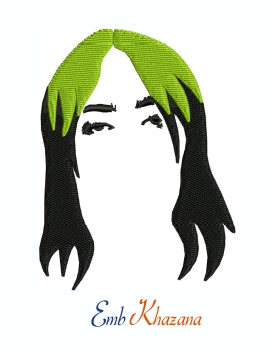 Billie Eilish Singer Machine Embroidery Design