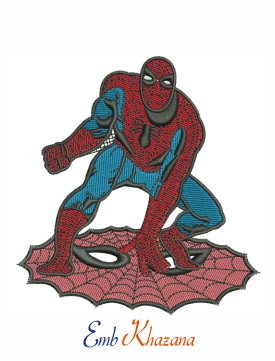 Spiderman web embroidery design