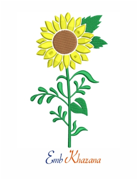 Sunflower machine embroidery design