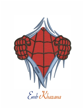 Spiderman chest logo machine embroidery design