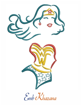 outline wonder woman