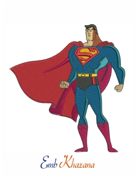 superman standing Embroidery Pattern