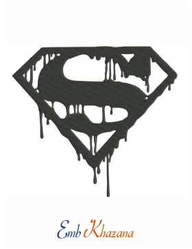 superman black bloody logo