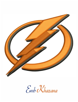tampa bay lightning bolt 3d paf logo