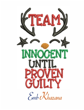 Team innocent reindeer Christmas machine embroidery design