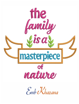 The family is a masterpiece of nature machine embroidery design