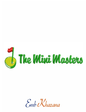 the mini masters golf logo