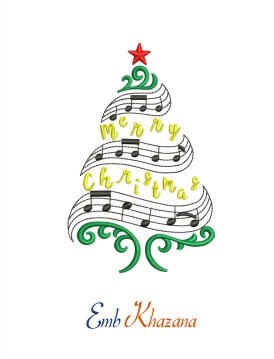 Christmas Tree With Musical Sign