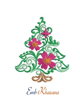 Christmas Tree With Flower